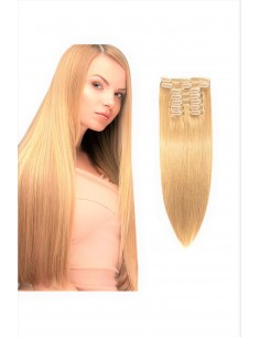 Extensii Clip On Premium Blond Sampanie 27D2